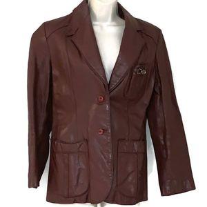 Vintage Etienne Aigner Sz 14  Leather Jacket